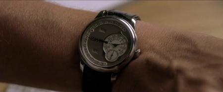 L'Octa Calendrier de F.P.Journe au poignet de Jean Dujardin dans le film Möbius.