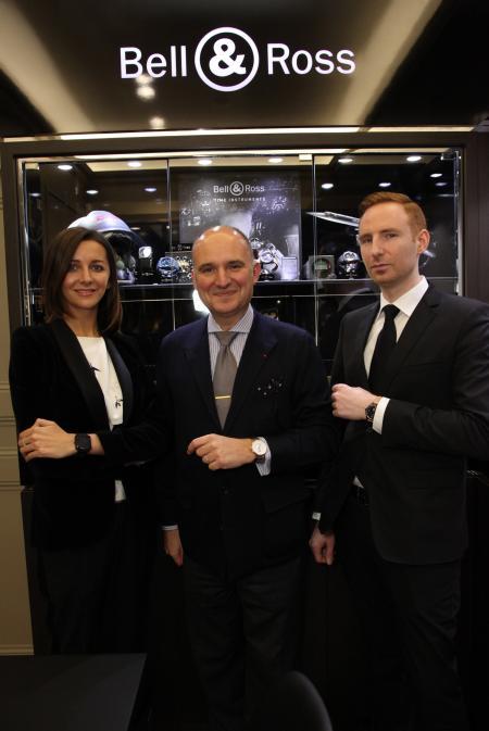 Carlos Rosillo, Président de Bell & Ross, lors de l'inauguration, le 27 février, de la boutique Bell & Ross à Vienne.