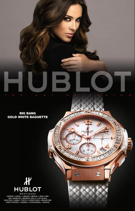 Campagne de publicité Hublot avec Jacky Bracamontes.