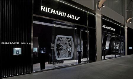 La boutique Richard Mille à Singapour.