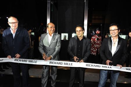 Inauguration de la boutique Richard Mille à Singapour.