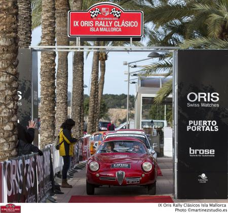 L'Oris Rally Clasico Isla Mallorca a attiré de nombreux passionnés à Puertos Portals.