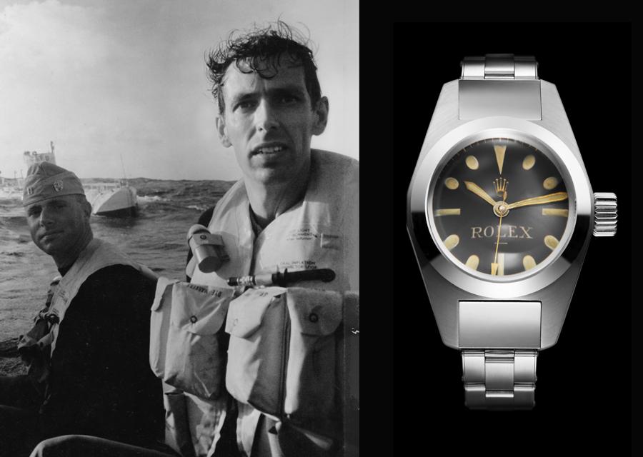 Don Walsh et Jacques Piccard en 1960 - Deepsea Special de Rolex