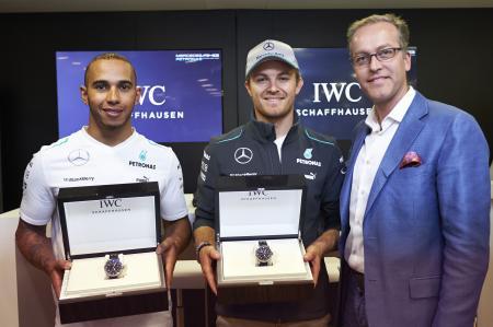Nico Rosberg et Lewis Hamilton nouveaux ambassadeurs d'IWC Schaffhausen