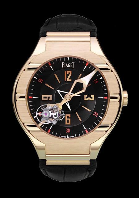 Piaget Polo tourbillon relatif - Boîtier or rose - Mouvement à remontage manuel - Pièce Unique pour Dubail