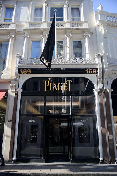 Nouvelle boutique Piaget à New Bond Street, Londres.