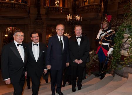 Jean-Louis Beffa, Juan-Carlos Torres, Frédéric Mitterrand et Bernard Stirn, Président de l'Opéra
