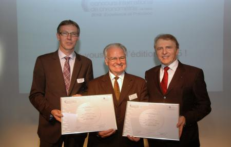 Concours International Chronométrie : Nicolas Clerc, Claude-Henri Chabloz, François Thiébaud