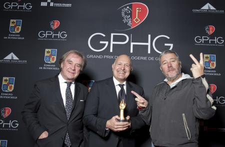 M. Sofisti, CEO Girard-Perregaux, Philippe Starck et J.M. Wilmotte