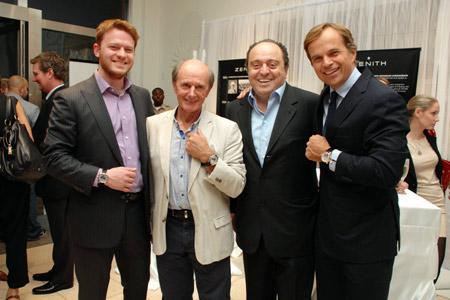 Greg Simonian (Westime), Jean-Louis Etienne, John Simonian (Westime), Jean-Frederic Dufour (Zenith).