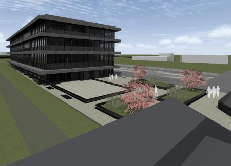 Hublot lance aujourd'hui la construction d'un deuxième grand bâtiment qui va plus que doubler la superficie de sa manufacture à Nyon