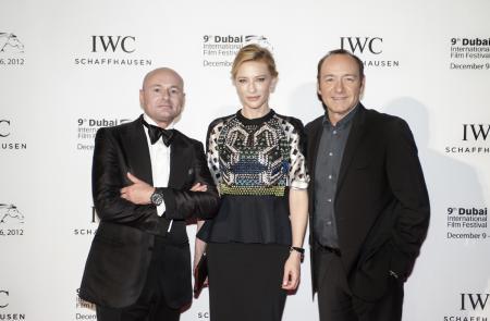 Georges Kern avec Cate Blanchett et Kevin Spacey lors du Festival International du Film du Dubai