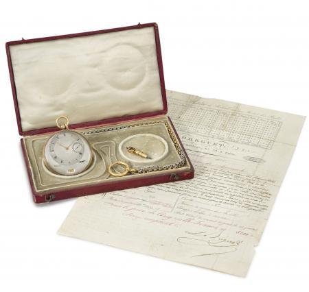 La montre à répétition des demi-quarts très plate avec quantième et cadran excentré Breguet n°4039