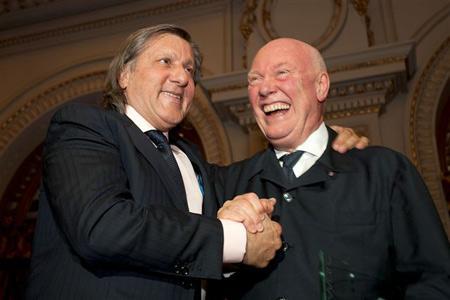 Ilie Nastase et Jean-Claude Biver, CEO de Hublot.