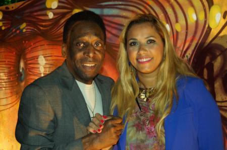 Le Roi Pelé avec Panmela Castro