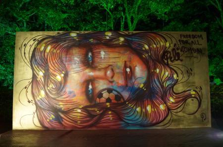 Le graffiti monumental de Panmela Castro