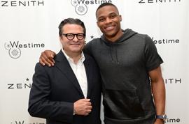 Aldo Magada, CEO et Président de Zenith, avec Russell Westbrook