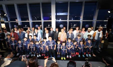 Hublot à Hong Kong avec les joueurs du Paris Saint Germain
