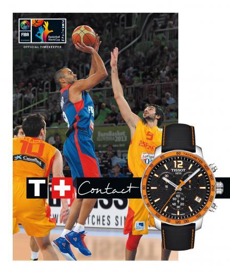 Tissot, Chronométreur officiel de la Coupe du monde FIBA de Basket-ball 2014 en Espagne