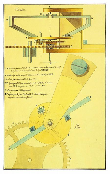 Tourbillon drawing