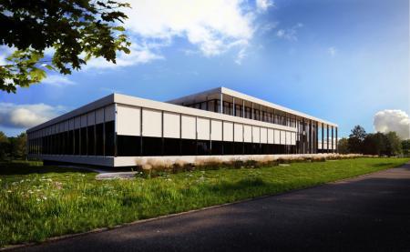 Le futur bâtiment de production