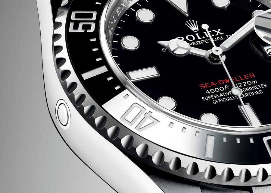 Sea-Dweller de Rolex munie d'une valve à hélium