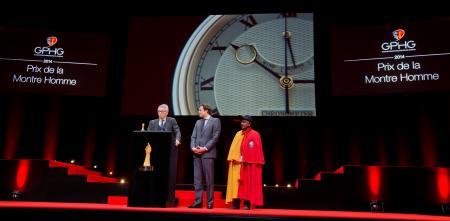 Dr Helmut Crott (Propriétaire de la marque Urban Jürgensen & Sonner, marque lauréate du Prix de la Montre Homme 2014) et Guillaume Barazzone (Conseiller national et conseiller administratif de la Ville de Genève)