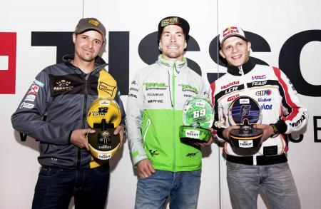 Collection Tissot MotoGP™ 2015 Premier - Les ambassadeurs Tissot et pilotes MotoGP : Nicky Hayden, Stefan Bradl and Thomas Lüth