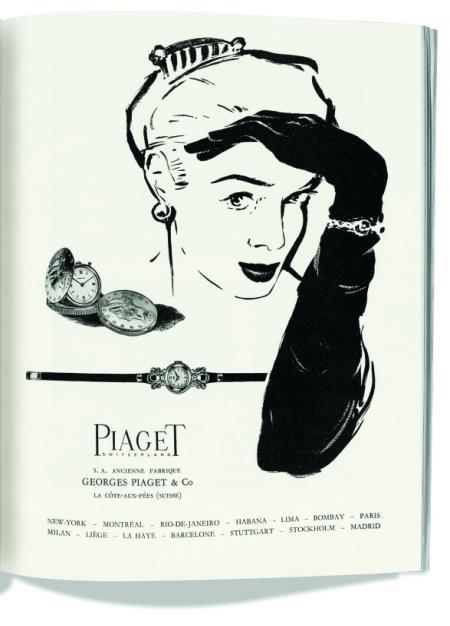 Publicité Piaget. La Suisse Horlogère. 1955 - ©Archives Piaget