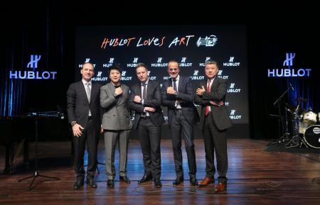 M. Philippe Tardivel, Lang Lang, Loic Biver, Benoit Toulin et Li Fei