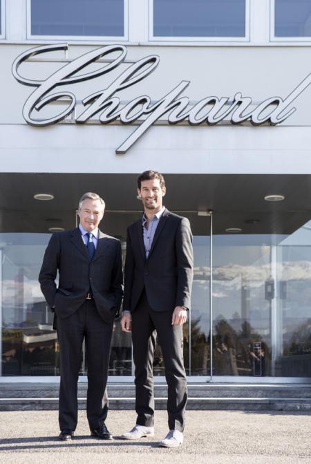 Mark Webber et Karl-Friedrich Scheufele, co-président de Chopard