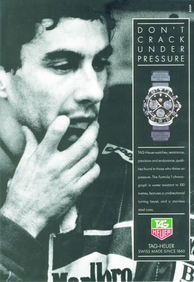 TAG Heuer - Ayrton Senna - Publicité de 1991
