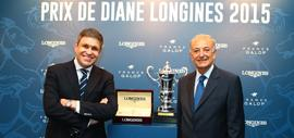 Juan-Carlos Capelli, Vice-Président de Longines et Directeur Marketing International, et Bertrand Bélinguier, Président de France Galop
