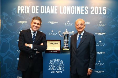 Juan-Carlos Capelli, Vice-Président de Longines et Directeur Marketing International, et Bertrand Bélinguier, Président de France Galop