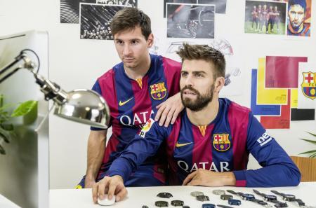 Leo Messi et Gerard Piqué