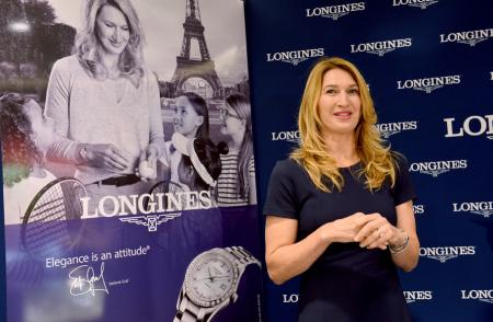 Inauguration boutique Longines - Steffi Graf