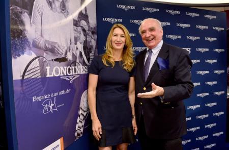Inauguration boutique Longines - Steffi Graf - Walter von Känel