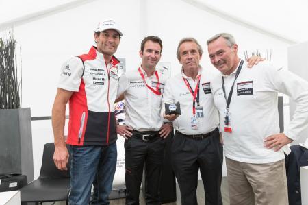 Mark Webber, Romain Dumas, Jacky Ickx et Karl Friedrich Scheufele