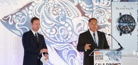 Chris Stibbs, PDG du groupe The Economist, et Alain Delamuraz, Vice-Président et directeur Marketing de Blancpain