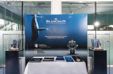 Le stand de Blancpain lors du World Ocean Summit 2015