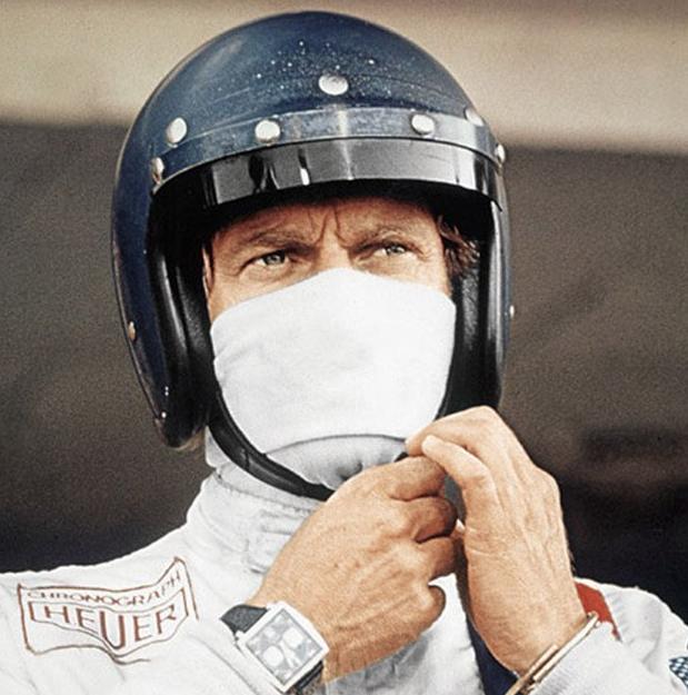 Steve McQueen et sa Monaco - 1970