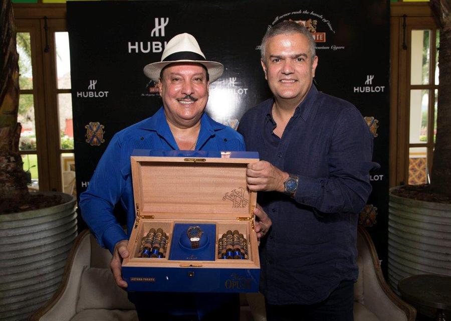 Carlito Fuente, CEO d'Arturo Fuente en compagnie de Ricardo Guadalupe, CEO de Hublot