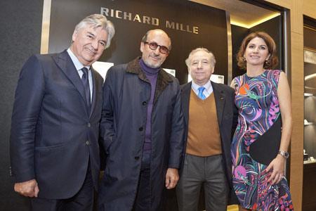 Au centre, Richard Mille et Jean Todt