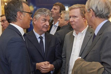 Hervé Duperret, directeur général du Lido avec Pierre Dubail et Frank Declerck