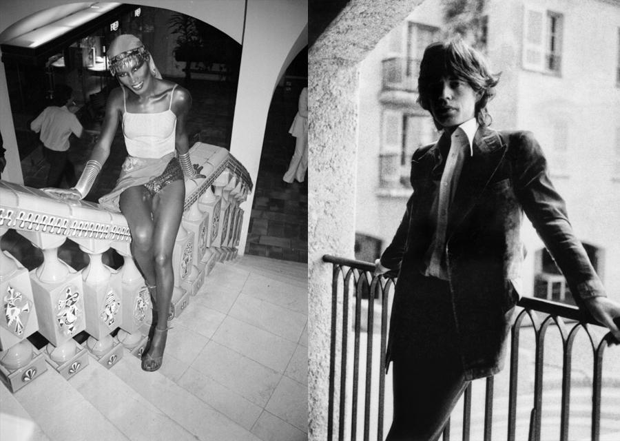 Grace Jones et Mick Jagger à l'Hôtel Byblos