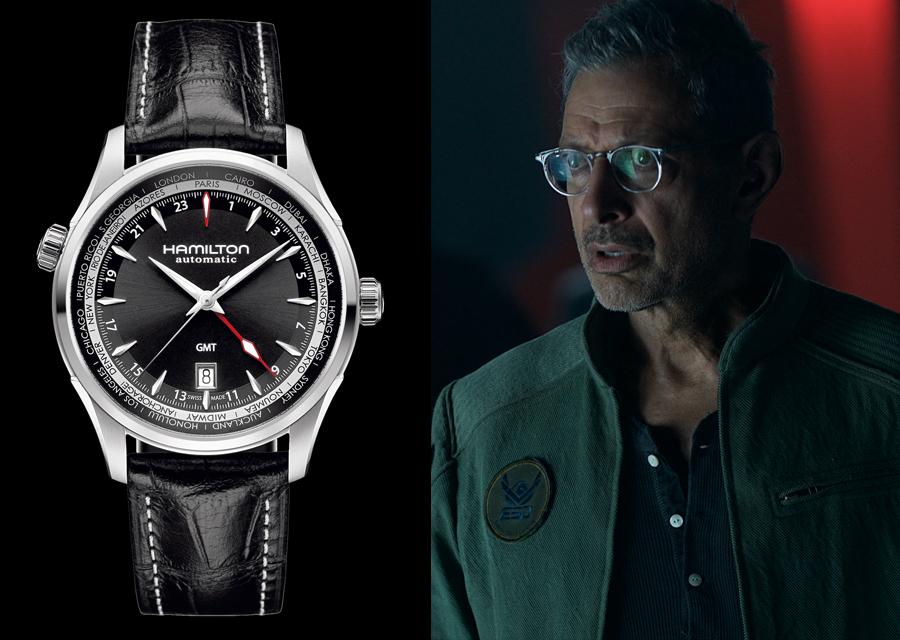 Jeff Goldblum porte une Hamilton Jazzmaster avec fonction GMT dans Independence Day : Resurgence