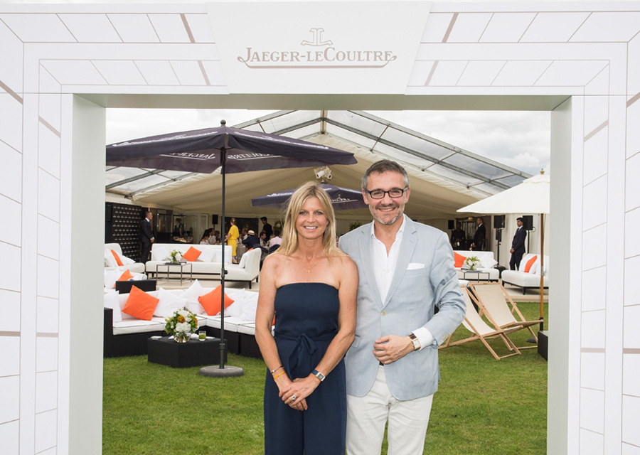 Jaeger-LeCoultre Polo Ambassador Clare Milford Haven and Communication Executive Director Laurent Vinay∏Vanessa Taylor Photography