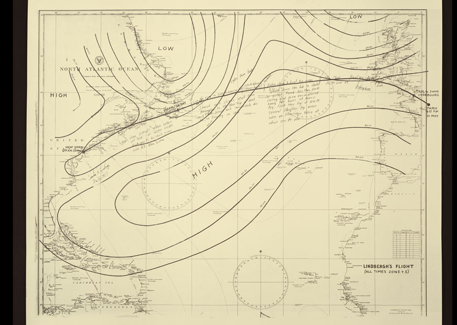 Plan de vol de Charles Lindbergh