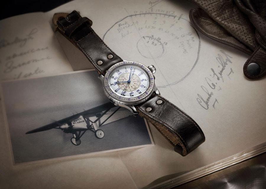La montre à angle horaire originelle conçue par Lindbergh et Longines