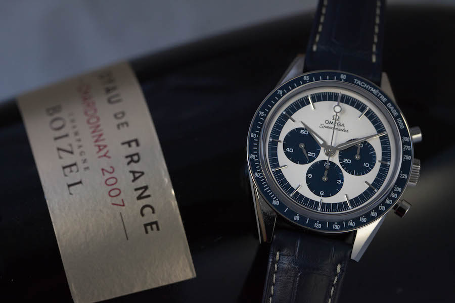 Montre OMEGA Speedmaster CK2998 - Acier - Cadran bleu et argenté - Mouvement chronographe à remontage manuel Omega 1861 - Bracelet cuir bleu